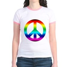 Rainbow Peace Sign T