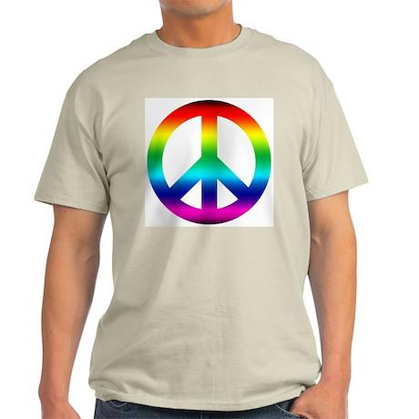 Rainbow Peace Sign Light T-Shirt