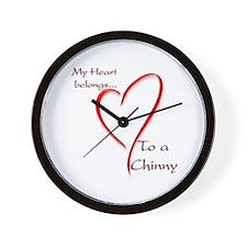 Chin Heart Belongs Wall Clock