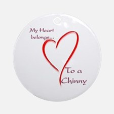Chin Heart Belongs Ornament (Round)