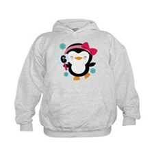 6th Birthday Penguin Girl Hoodie