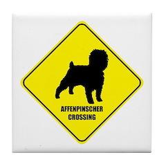 Affenpinscher Crossing Tile Coaster
