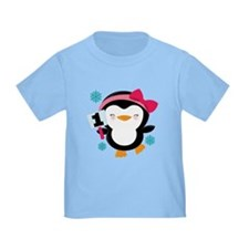 1st Birthday Penguin Girl T