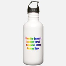 Proud to Support Equality Water Bottle
