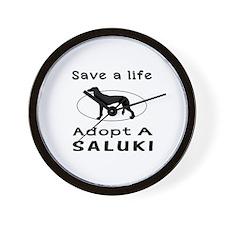 Adopt A Saluki Dog Wall Clock