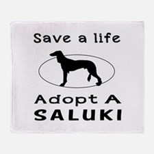 Adopt A Saluki Dog Throw Blanket