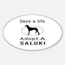 Adopt A Saluki Dog Sticker (Oval)