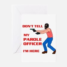 PAROLE OFFICER Greeting Cards (Pk of 10)