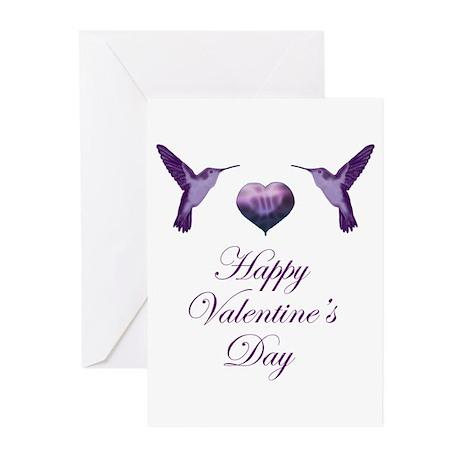 Hummingbird Valentine Greeting Cards (Pk of 10