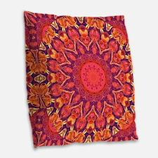 Sunburst Abstract Burlap Throw Pillow