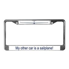 """""""Other Car is Sailplane"""" License Plate Frame"""