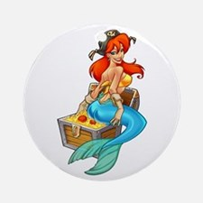 Mermaid Molly Pirate Ornament (Round)