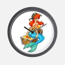 Mermaid Molly Pirate Wall Clock