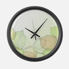 Leaves Medium Large Wall Clock