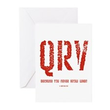 """QRV...You Never Know When"" Greeting Cards (Packag"