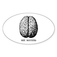 Size Matters Oval Bumper Stickers