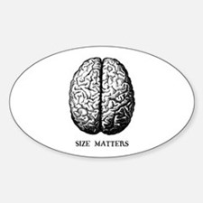 Size Matters Oval Decal