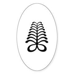 AYA Adinkra Symbol Oval Decal