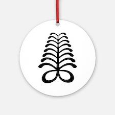 AYA Adinkra Symbol Ornament (Round)