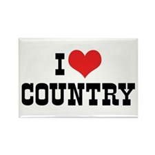 I Love Country 2 Rectangle Magnet (10 pack)