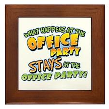 Happens at Office Party Framed Tile