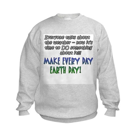Weird Weather Earth Day Kids Sweatshirt