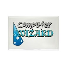Computer Wizard Rectangle Magnet