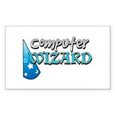 Computer Wizard Rectangle Decal