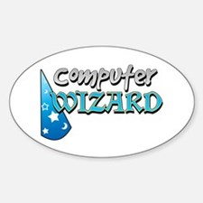 Computer Wizard Oval Decal