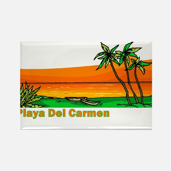 Cute Vintage mexican Rectangle Magnet