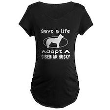 Adopt A Siberian Husky Dog T-Shirt