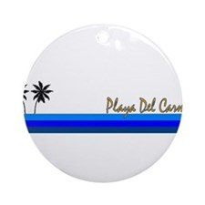 Playa del carmen Ornament (Round)