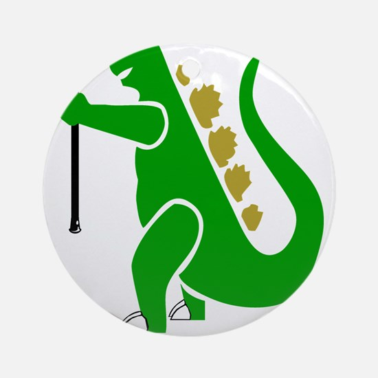 Lacrosse Laxasaurus Rex Ornament (Round)