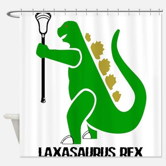 Lacrosse Laxasaurus Rex Shower Curtain