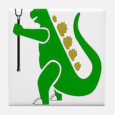 Lacrosse Laxasaurus Rex Tile Coaster
