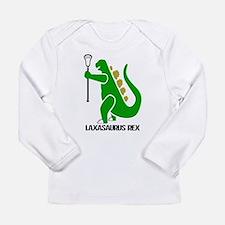 Lacrosse Laxasaurus Rex Long Sleeve Infant T-Shirt