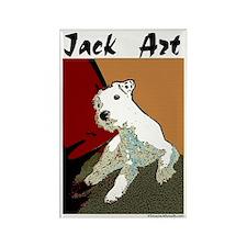 Jack Art Rectangle Magnet (100 pack)