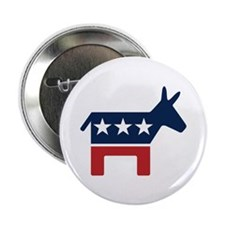 "Donkey - Democrat 2.25"" Button (100 pack)"