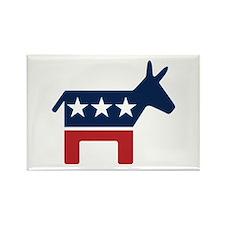Donkey - Democrat Rectangle Magnet (100 pack)