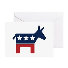 Donkey - Democrat Greeting Cards (Pk of 10)
