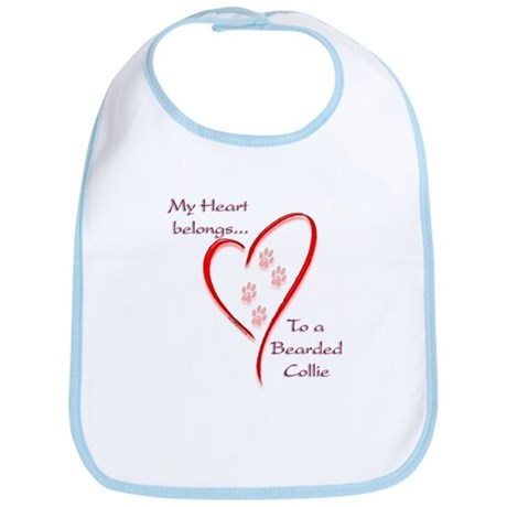 Bearded Heart Belongs Bib