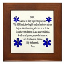 Paramedic's Prayer Framed Tile