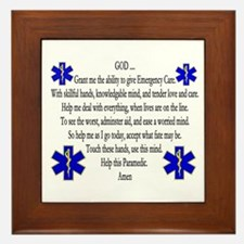 Paramedic's Prayer Framed Tile