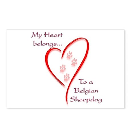 Belgian Sheepdog Heart Belongs Postcards (Package