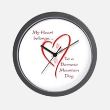 Berner Heart Belongs Wall Clock