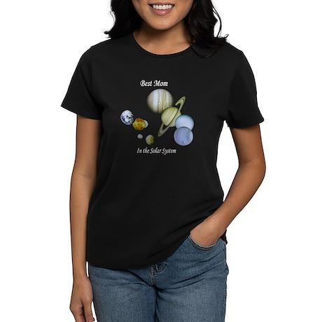 Best Mom in the Solar System Women's Black T-Shirt
