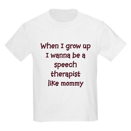 I Wanna Be A Speech Therapist Kids T-Shirt