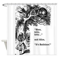 Alice in Wonderland cat Shower Curtain
