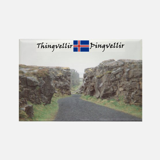 Edge of Thingvellir Rectangle Magnet