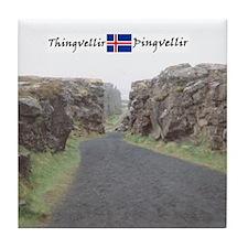Edge of Thingvellir Tile Coaster